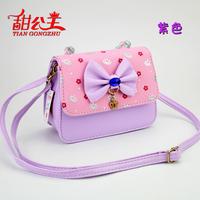 2015 children product package messenger bag princess crown beads handbag fashion butterfly section inclined shoulder bag