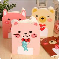 24pcs/lot Free Shipping / New Korean style cute bear Notebook/diary /Note pad Memo / A6 book / wholesale