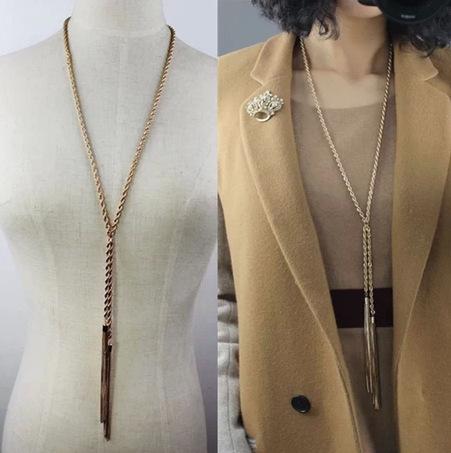 produto Colares Longos Exquisite Long Sweater Chain Pendant Necklace Jewelry For Women Violetta Bisuteria Meus Pedidos 99486