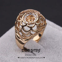 2015 New Fashion Joias 18k Gold Plated Anel Senhor Dos Aneis Small Hollow Fruits Basket Wedding Rings For Women