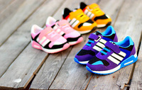 Brand Fashion Design Hit-color Sneakers Girls,Boys Seasons Casual Stitching Flats Children Breathable Mesh Shoes 808e
