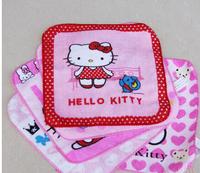 10pcs/lot Free Shipping 20X20cm Hello Kitty Cotton Cartoon Children's Kid hand Face Towel random KT161