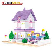 bricks Pink Girls assembled gift birthday toy