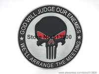 The Punisher belt buckle, God will judge our enemies , we will arrange the meeting
