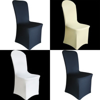 Free shipping chair covers for wedding spandex/white banquet lycra chair cover/satin sash/spandex chair band with buckle