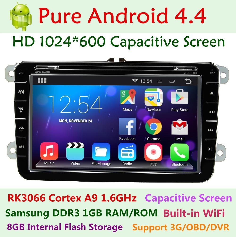 1024*600 Android 4.4 Car DVD Player VW Volkswagen Jetta T5 transporter EOS polo SEAT Leon Toledo Altea Passat Tiguan Touran GPS(China (Mainland))