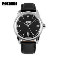 relogios masculinos Fashion Casual Quartz Watch 30m Waterproof Leather Strap Men Dress Watches Brand Men's Wristwatch