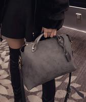 Scrub handbag 2015 autumn and winter grey bags fashion all-match shaping women's handbag