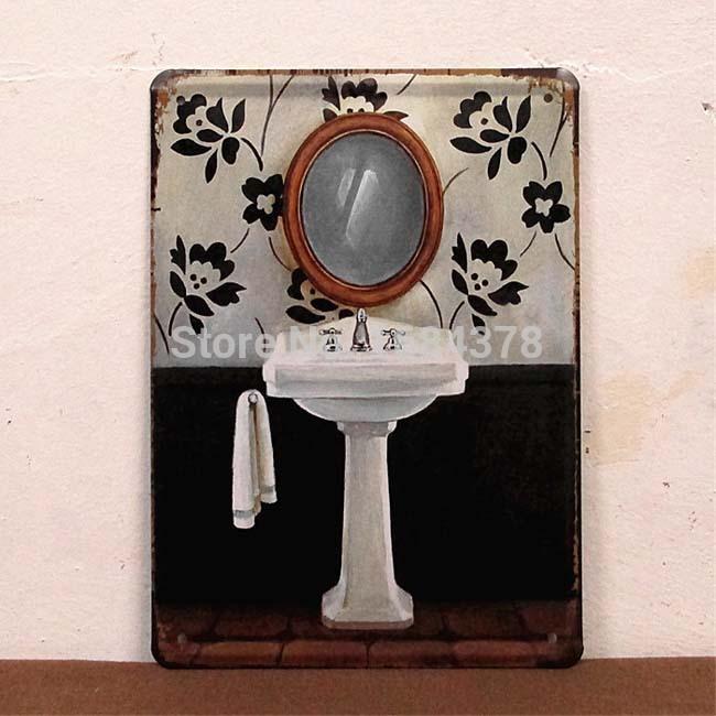 Vintage Bathroom Signs Metal Promotion Online Shopping For