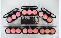 6 pcs/lot Free Shipping New Makeup 3 Colors Blush