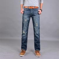 2015 Frayed hole jeans pants, fashion Slim pencil pants