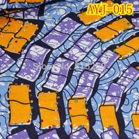 2015 New style prints wax fabric good quality veritable real wax fabric AYJ-015