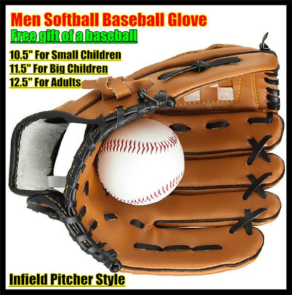 Infielders Softball Glove Men Infield Pitcher Softball