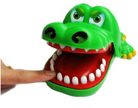 150 X Free Shipping Funny Toy Plastic Crocodile Mouth Dentist Bite Finger Game For Children Adult