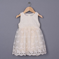 New 2015 summer girls lace party dress baby girls Boutique vest dress  5pcs/lot
