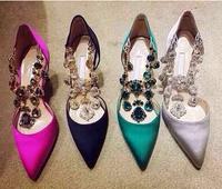 Brand  Women pumps shoes High quality Rhinestone New fashion MB  High heels  Women shoes
