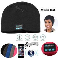 Bluetooth Music Hat Smart Talking Wireless Headphones Keep Warm Knitted Winter Hands-free Magic Sport Skullies Beanies 2015 New