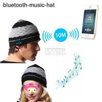10PCS Cold Winter MP3 MP4 Music Hat mini Wireless speaker bluetooth receiver amplifier speaker Smart music Cap Headset Headphone