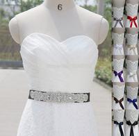 Fashion Sparkly Handmade Belt Crystal Rhinestone Beaded Czech Stones Bridal Gown Sash Formal Wedding Evening Dresses Belt T12201