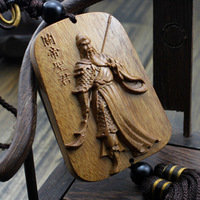 Chinese historical heroes woodcarving, wooden handicrafts, palladium jewelry,Friendship, gift