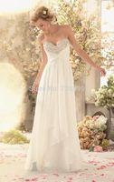 HYL Custom Size New Luxury White/ivory Beaded Sweetheart Neckline Bridal Gown Chiffon A-Line Floor-Length Wedding Dresses