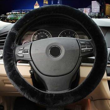 2015 теплые плюшевые зимний руль обложка имитации шерсти универсальный авто принадлежности автомобильные аксессуары высокой доставленных оптовая продажа