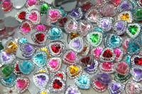 Free shipping melange Diy flat back  heart  gem resin 200 PCS scrapbooks mobile phone decoration accessories (12 * 12 mm)