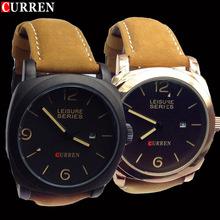 Marca Fomous moda curren8888 relojes hombres del cuero genuino de gama alta impermeables atmosférica cuarzo hombres de ocio reloj