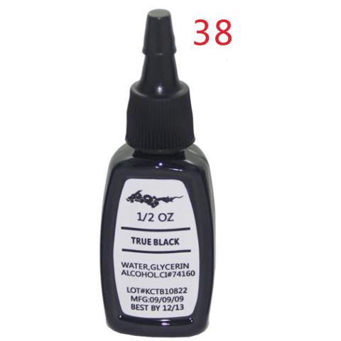 5pcs TRUE BLACK ink kit tattoo pigment set 15ml(1/2OZ)make up ink body paint colors(China (Mainland))