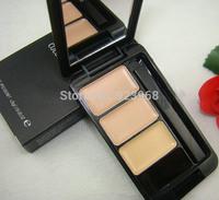 Professional Makeup eye Concealer palette 3 Colors concealer eye brand makeup urban face care (2 pcs/lots)2pcs Free Shipping