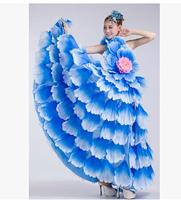 green , rose , yellow Flamenco dance performance costumes/Girls flamenco dresses spanish dance dress ballroom dance dress