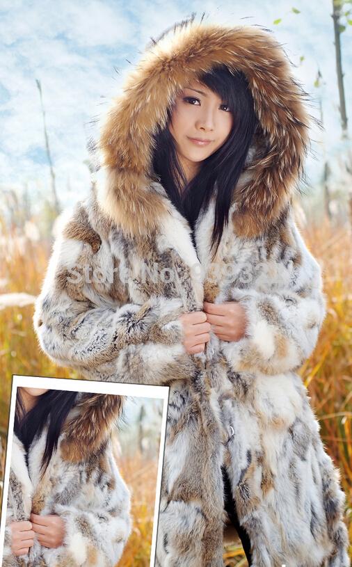 2017 2015 New Real Rabbit Fur Coat Fashion Women Rabbit Fur Jacket