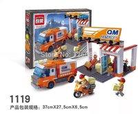 1119 Logistics Express Enlighten action Building Block Set 3D Construction Brick Toys Educational Block toy gift for Children