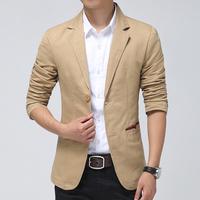 2015 New Brand Blazer Men slim fit Suits For Mens Business Fashion Coats Men's Blazers Suit Jackets Plus size M-3XL FreeShipping
