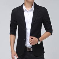 2015 Men leisure small suit coat Men's slim casual suits jacket water washing blazer coat plus size M-3XL Free shipping