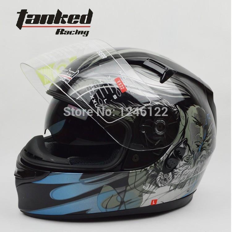 Tanked Racing motorcycle helmet china casco capacete da motocicleta moto eletrica infantil scooter bicicleta with dual lens T122(China (Mainland))