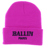 1 PC Retail Gorro Men Female Winter Skull Cap Touca Daily Beanie Pink White Black In Stock