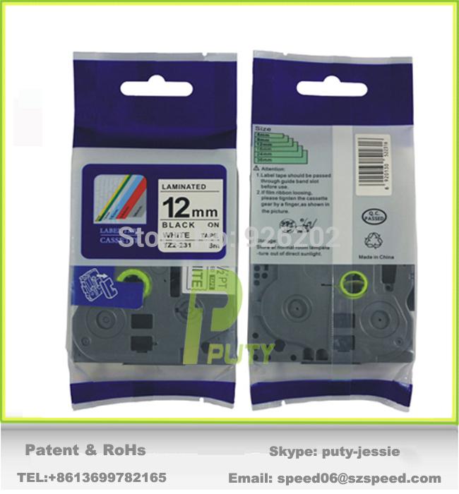 Лента для печатающего устройства PUTY TZ TZe TZ TZe231 TZ231 TZe 231 12 * 8 TZe/231 p/touch TZ2-231 231 35131