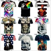 2015 Newest style 3d t shirt men tshirt both side print good quality men's 3D tshirts Hot models casual t-shirts free ship