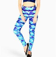 New Fashion Pants Stretchy Whale Print Legging Minke Leggings Women Fitness Pants High Quality Leggins Hot  S106-639