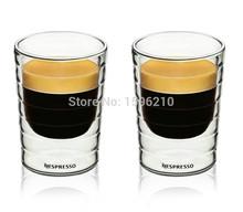 Caneca hand blown double wall whey protein canecas Nespresso coffee mug espresso coffee cup thermal glass 80ml