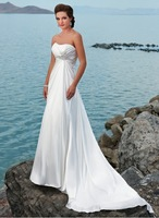 Free Shipping New Arrival Stapless A Line In Stock Wedding Dress With Beads Custom size/color