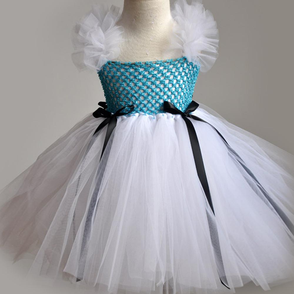 Estados unidos meninas vestido de princesa de luxo casamento vestido da menina flor(China (Mainland))