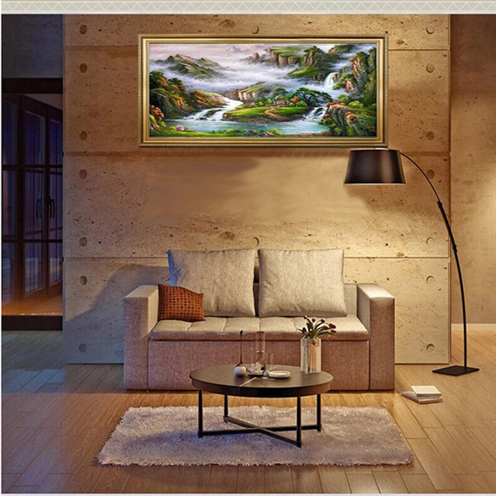 Snelle landschapsschilderkunst koop goedkope snelle landschapsschilderkunst loten van chinese - Schilderij decoratie voor woonkamer ...