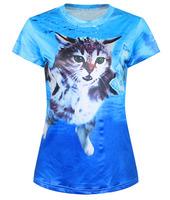 New 2015 Fashion Women T shirt Print Short Tshirt Crop Top Blouse Spring Summer Tee Tops