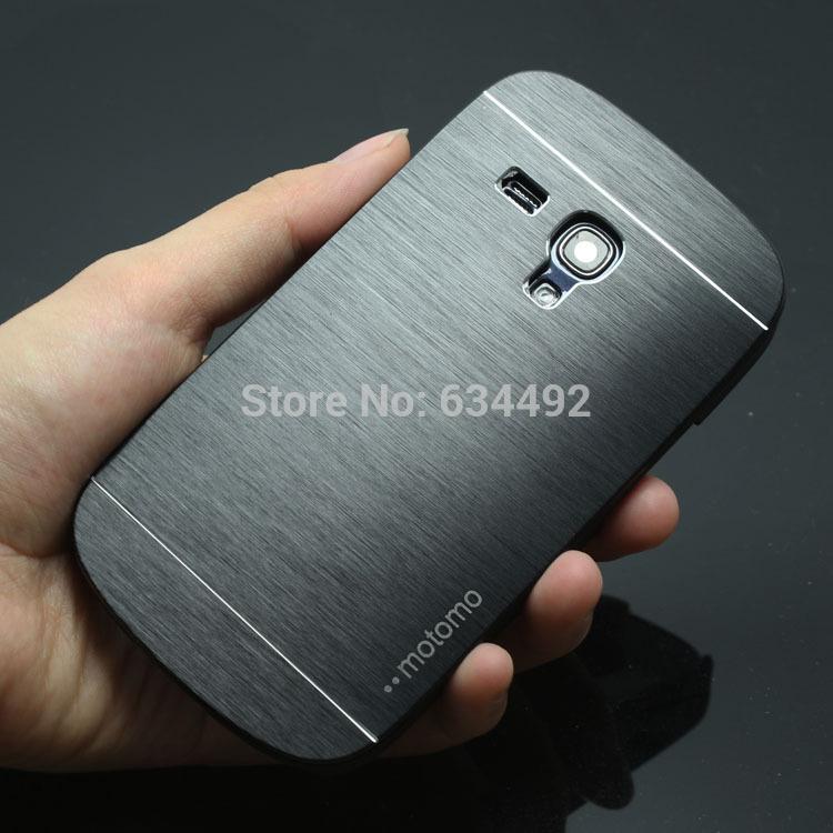 Motomo Luxury Metal Brush Hard Case For Samsung Galaxy S3 Mini i8190 Back Cover Aluminum Back Case Capa Celular(China (Mainland))