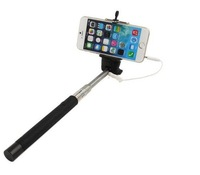 Wired Extendable Selfie Handheld Stick Monopod With  Shutter Remote Control Stick  Free Shipping