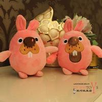Free shipping one pcs 18cm rabbit plush toy rabbit fur velvet doll dolls birthday gift girls