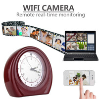 2015 New 720P Wifi Monitor Clock Support Motion Detection Alarm Andorid IOS System Two Way Voice Interoom hidden camera
