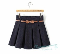 Women Casual Plaid Skirt Female Temperament Pleated Skirts Short Skirts Autumn and Winter Free Shipping
